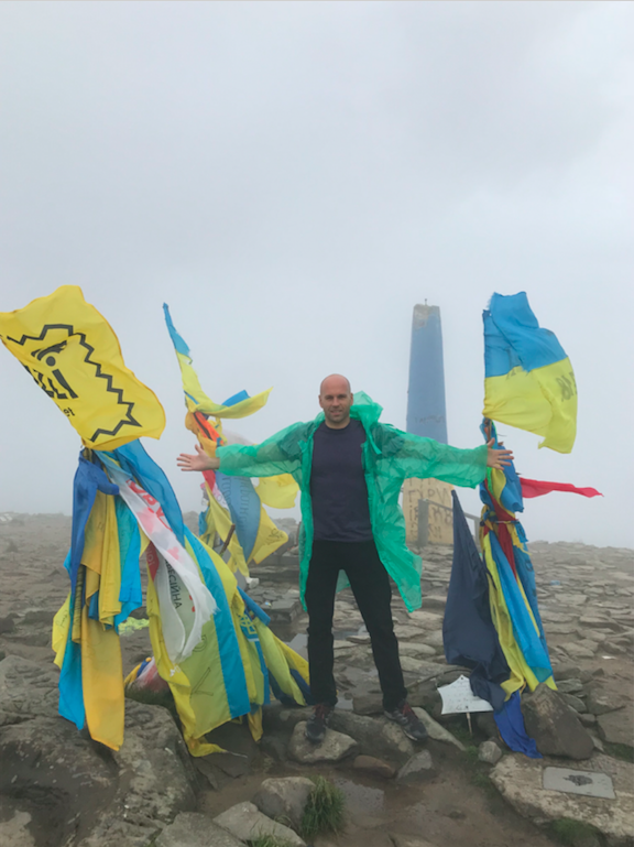 Peter Santenello on Mount Hoverla in Ukraine