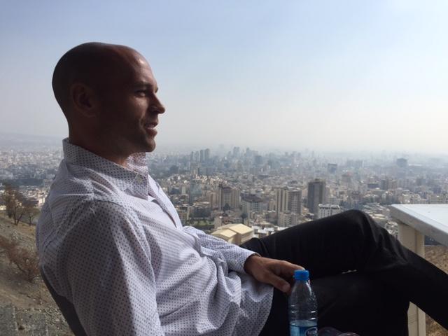 Peter Santenello in Tehran, Iran