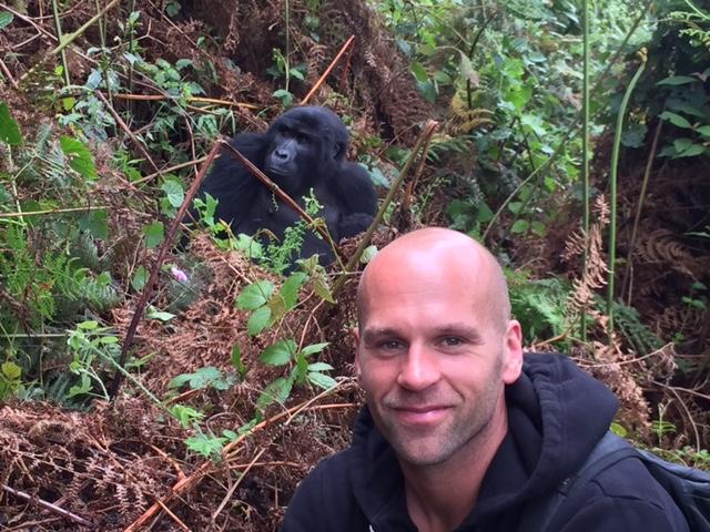 Peter Santenello and monkey