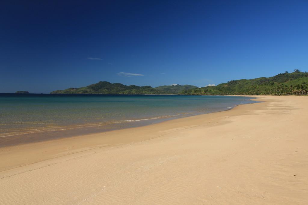 Sandy beach and ocean