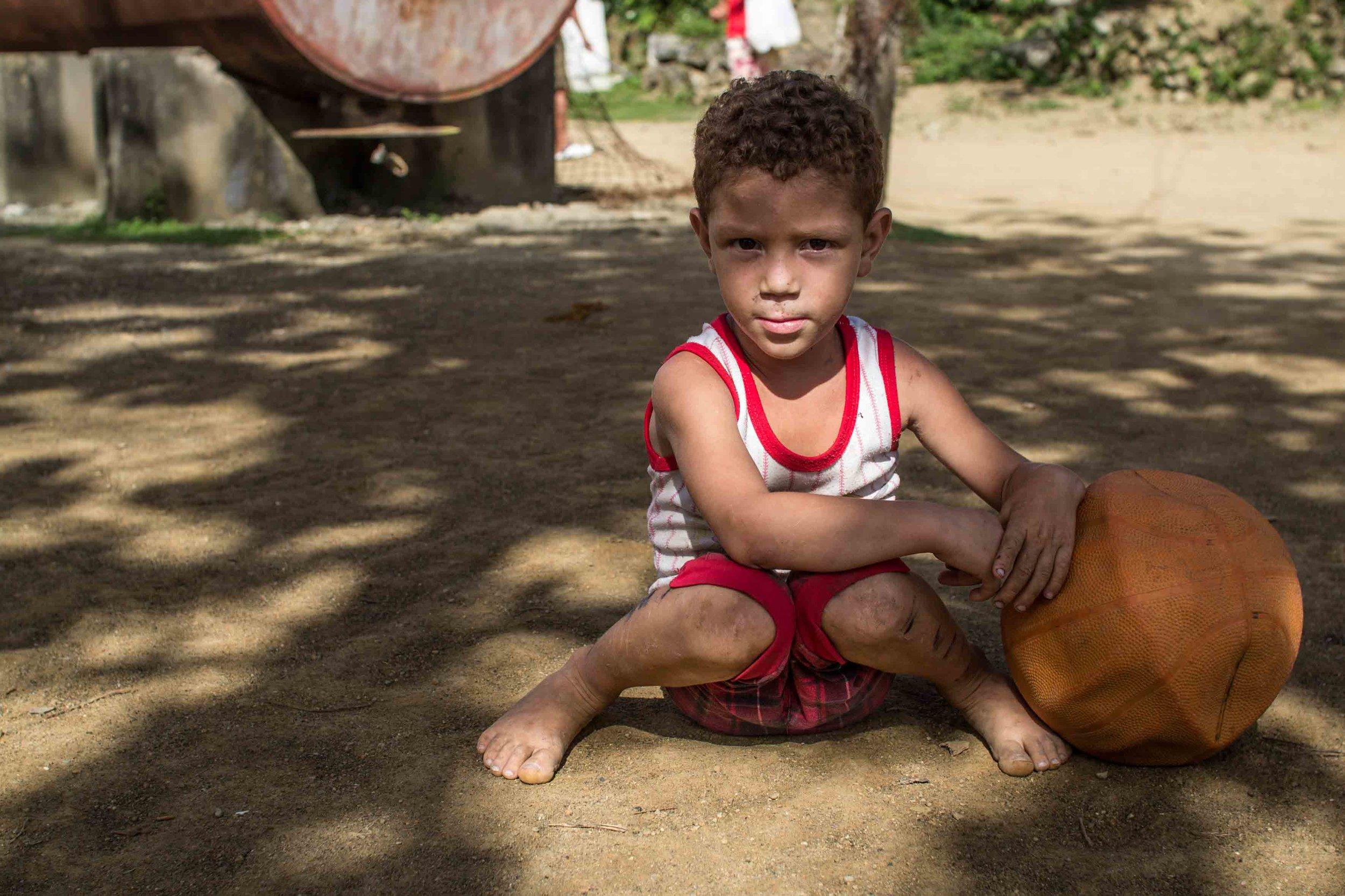 Cuban boy with a ball