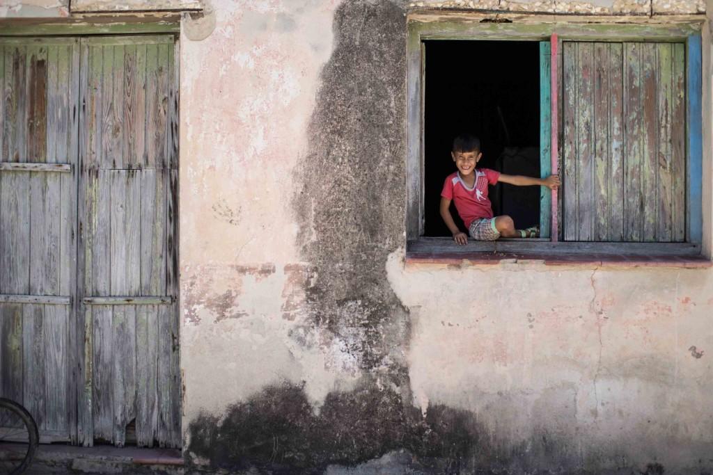 Smiling boy in Cuba
