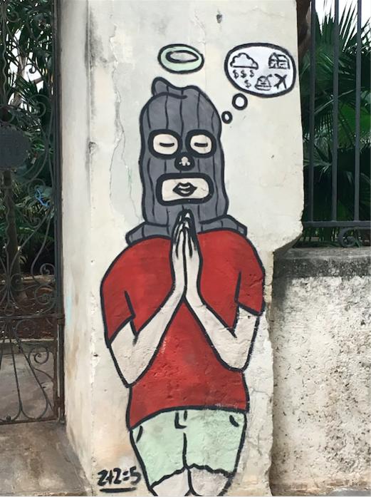 Contemporary art object in Cuba