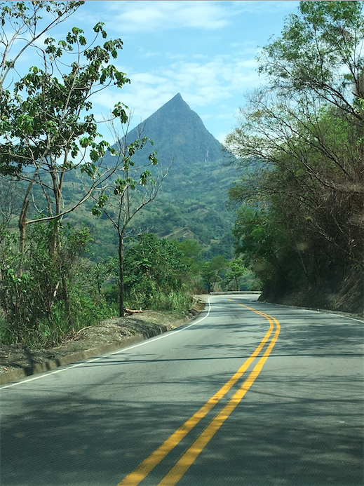 Nice roads in Colombia