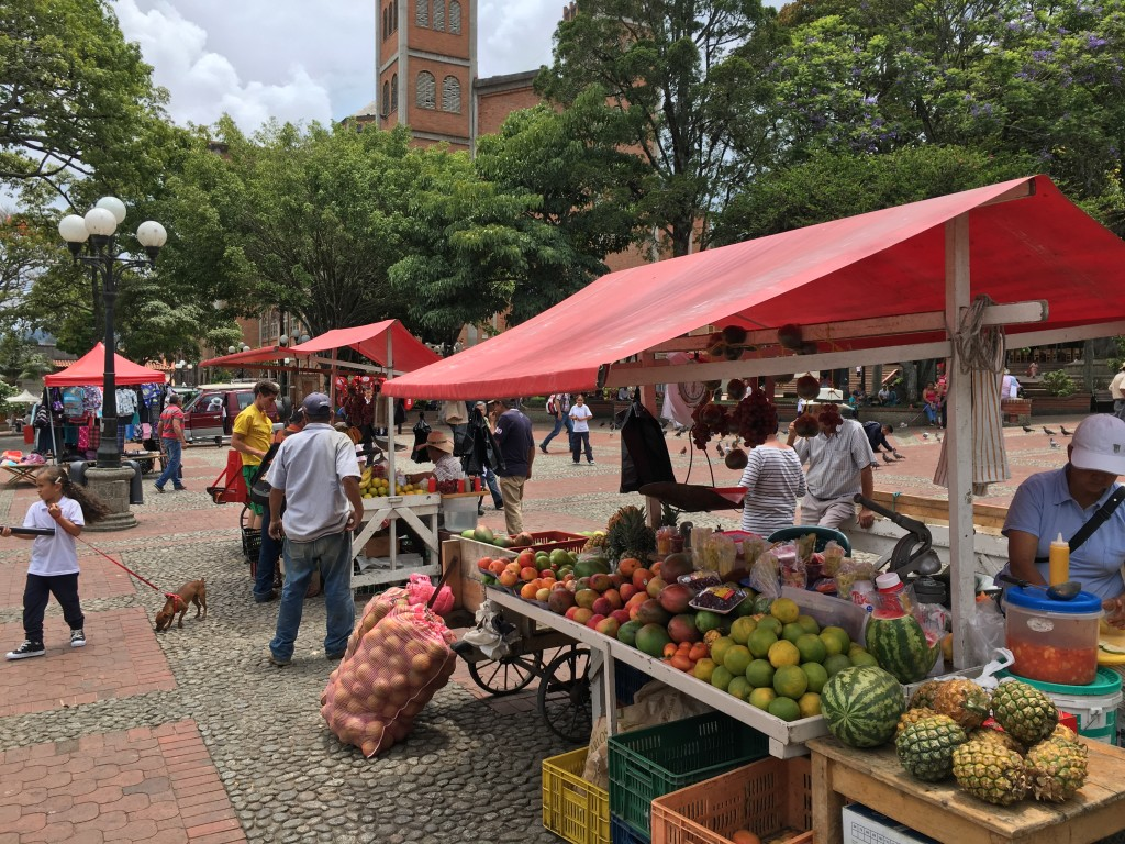 Local market in Colombia