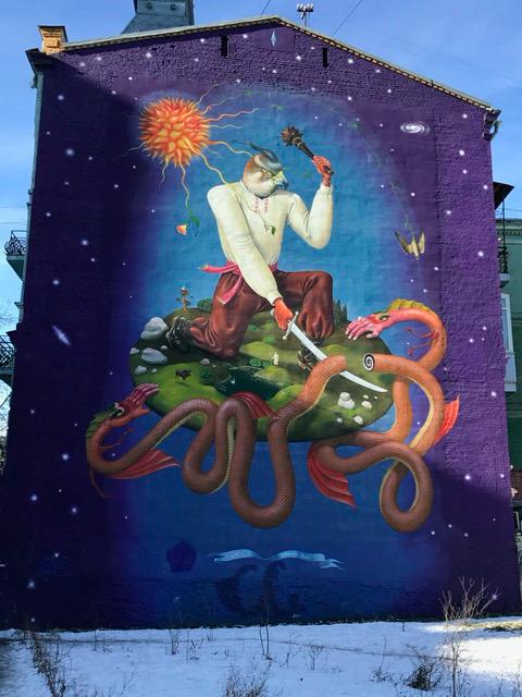 A beautiful mural in Kyiv, Ukraine