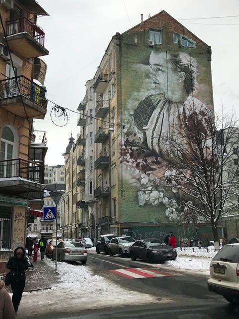 Beautiful mural in Kyiv, Ukraine