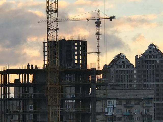 Unfinished building in Kyiv, Ukraine