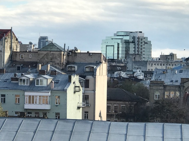 Buildings and houses in Kyiv, Ukraine