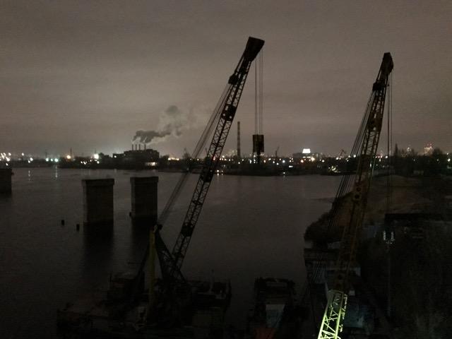 Industrial look of Kyiv, Ukraine