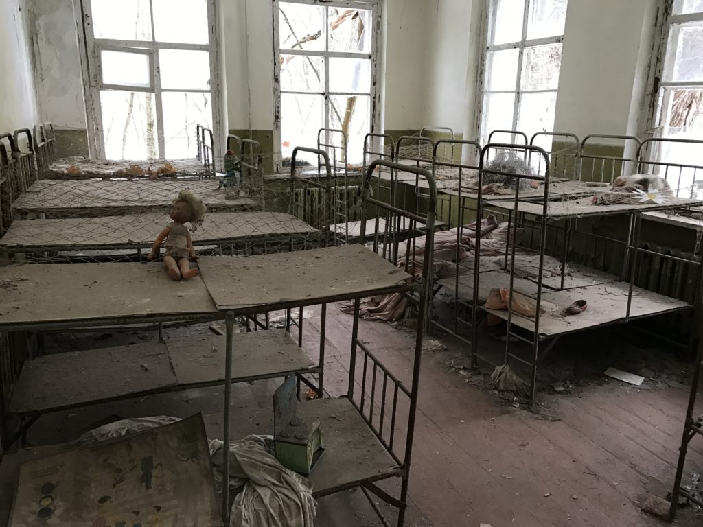 Abandoned building in Chernobyl