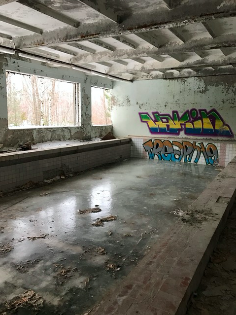 Indoor swimming pool in Pripyat, Chernobyl