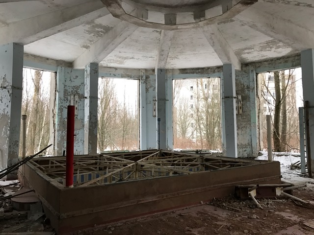 Boxing ring in Chernobyl