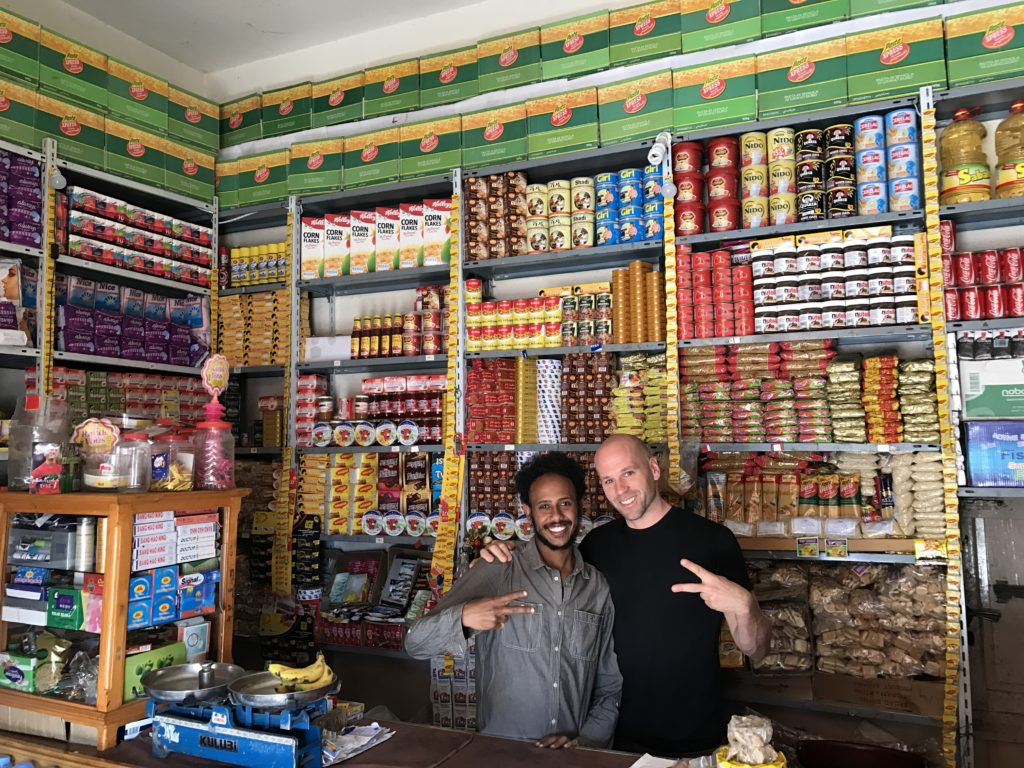 Eritrean man with an American guy