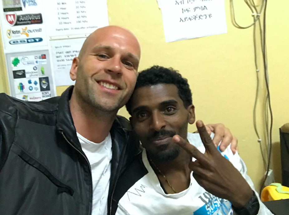 American with his Eritrean friend