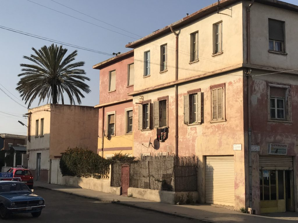 Old beautiful buildings in Asmara, Eritrea