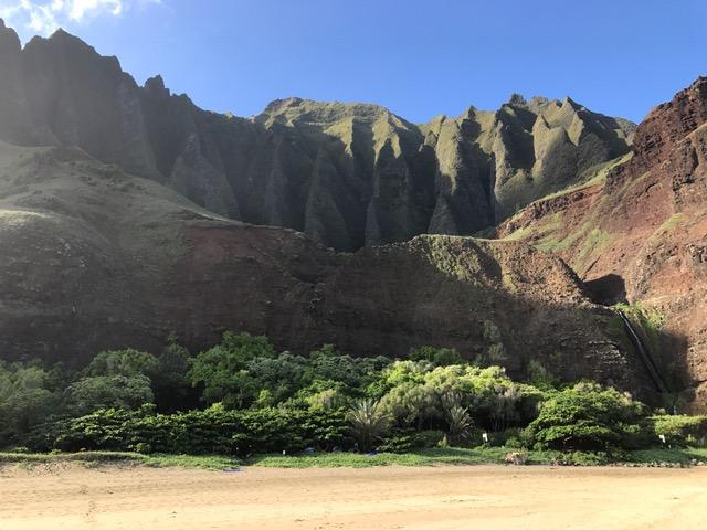 Americans organized camping in Kauai