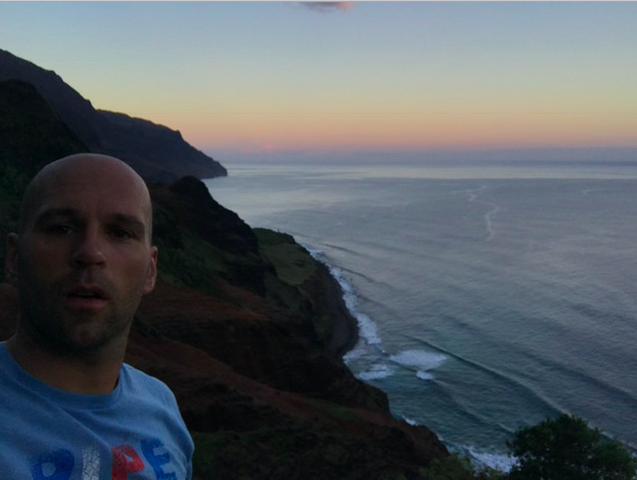 Peter Santenello near the water in Kauai