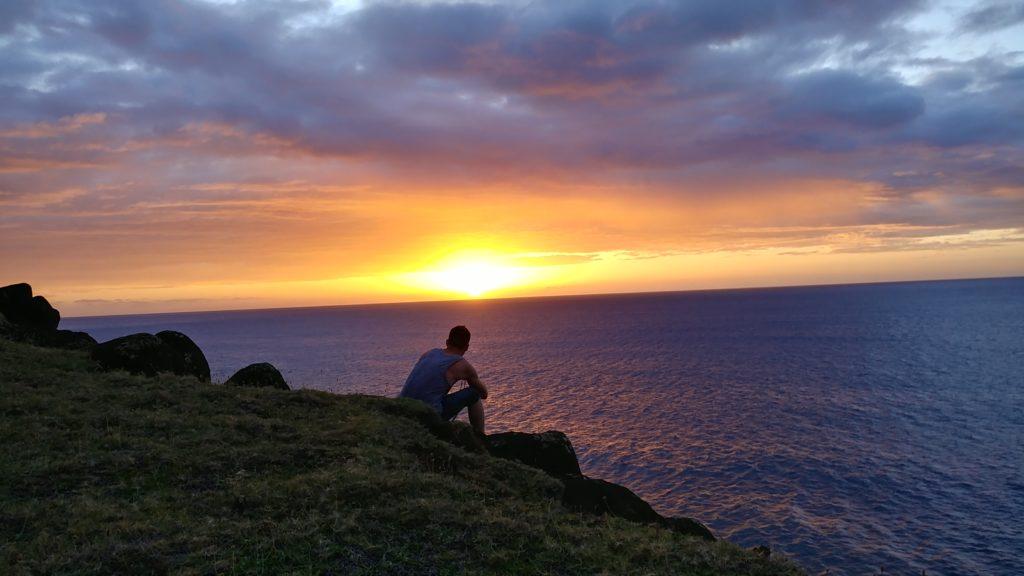 Beautiful sunset in Kauai