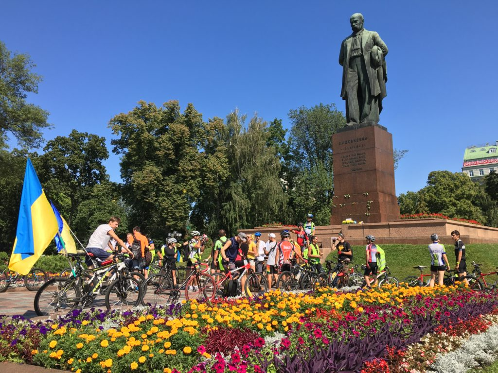 Taras Shevchenko monument in Kyiv, Ukraine