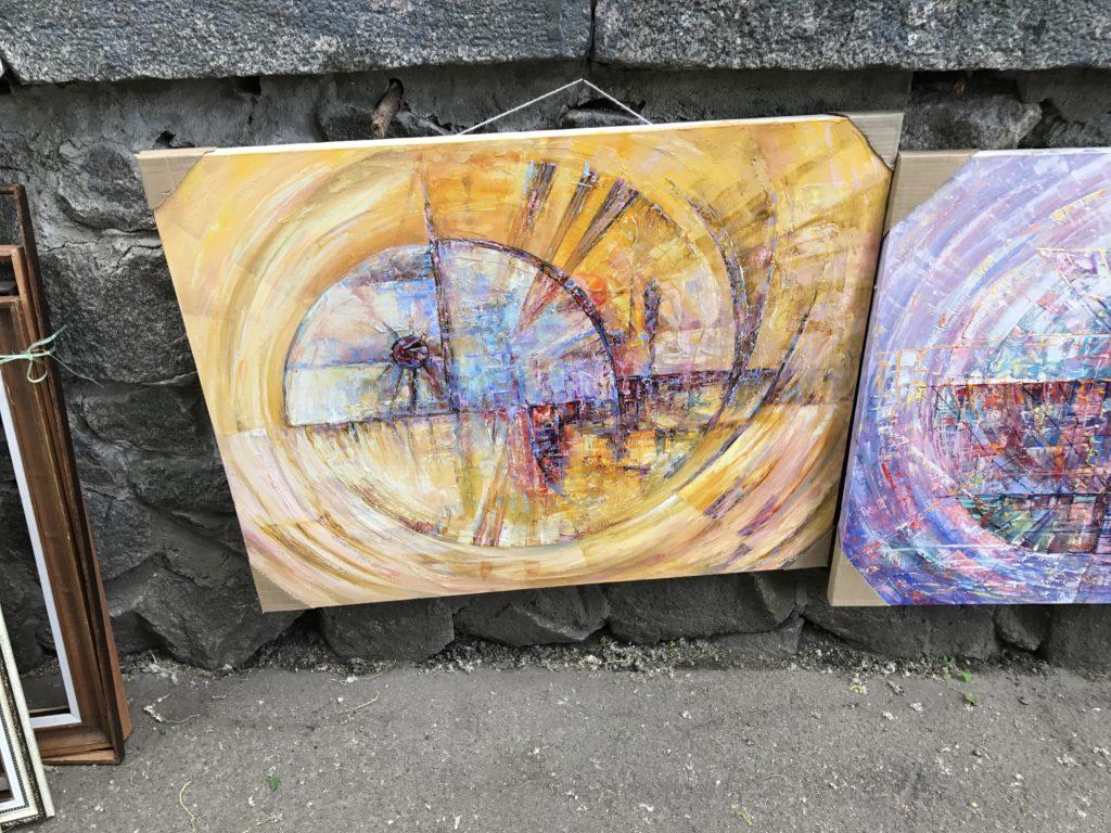 Contemporary art on the streets of Kyiv, Ukraine