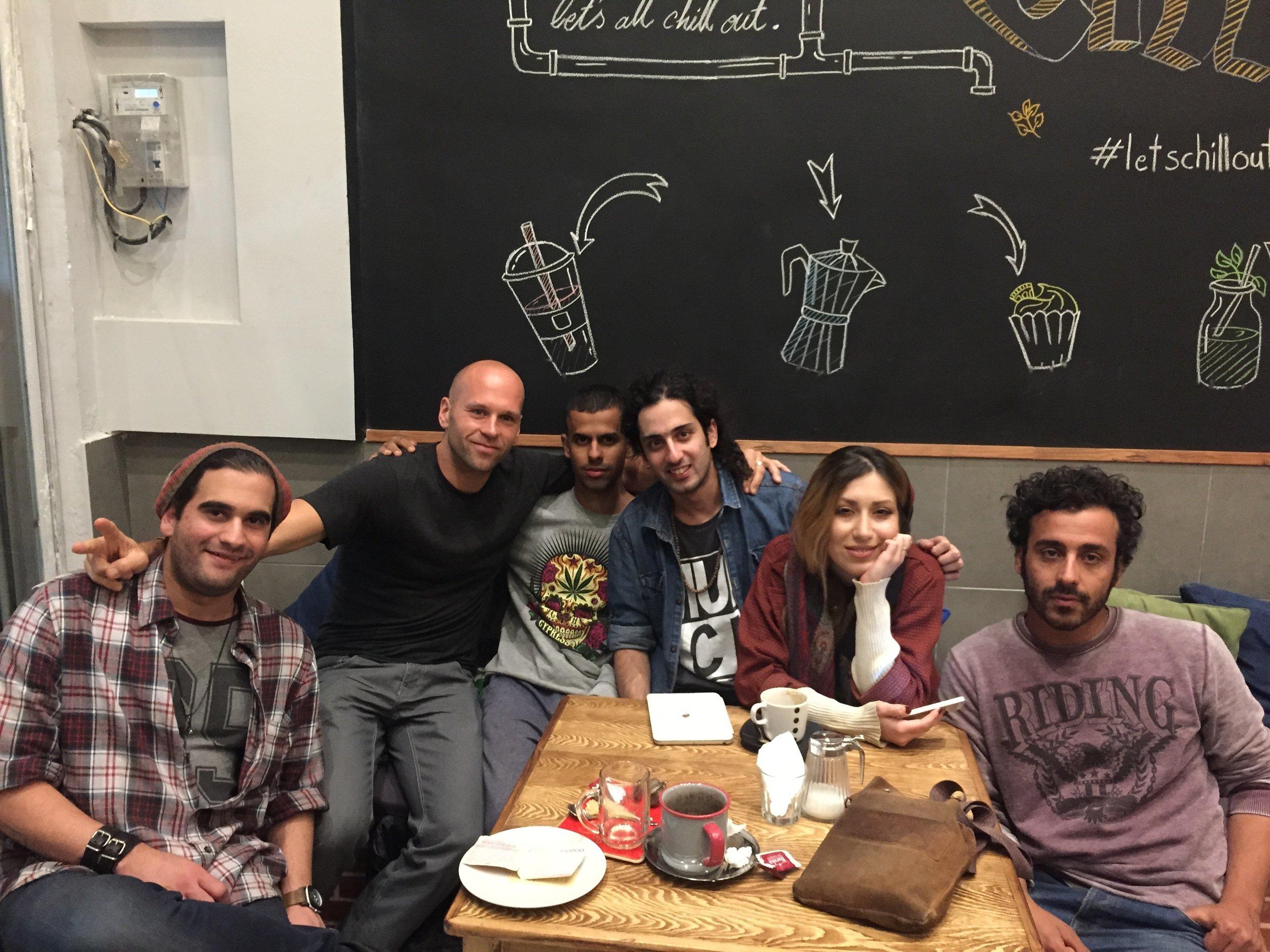 In a cafe in Shiraz, Iran.