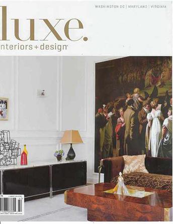 """Luxe. Interiors & Design magazine Spring 2014 """"Graphic Design"""" Interior Designer Shazalynn Cavin-Winfrey of SCW Interiors Interior Design for a Family."""