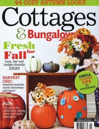 """Cottages & Bungalows magazine November 2012 """"Blending Old and New: The Contemporary Craftsman"""" Interior Designer Shazalynn Cavin-Winfrey of SCW Interiors delivers a traditional Arts and Crafts style to a Virginia family."""