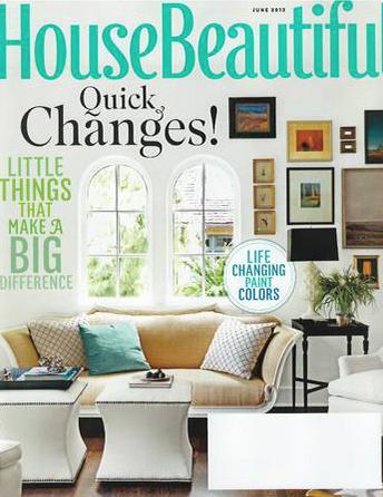House Beautiful magazine June 2012 Interior Designer Shazalynn Cavin-Winfrey of SCW Interiors in Alexandria, Virginia