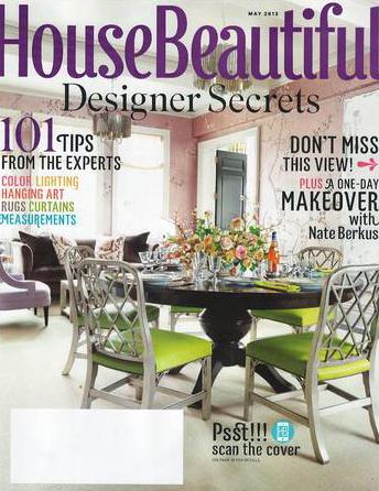 House Beautiful magazine May 2012 Interior Designer Shazalynn Cavin-Winfrey of SCW Interiors in Alexandria, Virginia