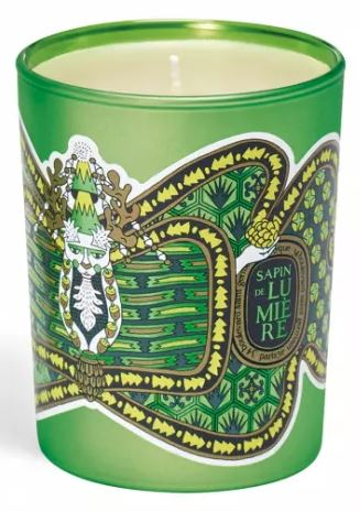 SCW Interiors Life Hacks Blog Post : Accessorize Your Bedside Table for the Holidays. Start with a Diptyque candle.