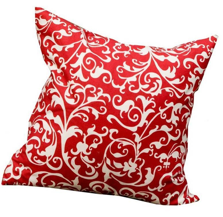 Hen House Linens,     Devine Scarlet Printed Cloth Pillow