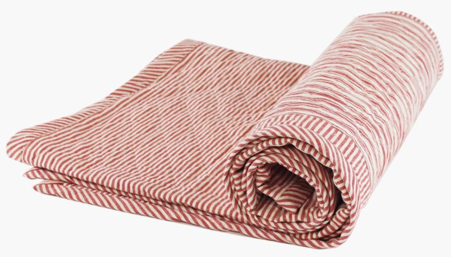 Hedgehouse,   Quilted Throw in Toulouse Red