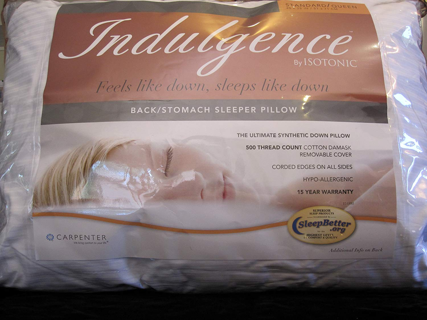 Isotonic Indulgence    Back/Stomach Sleeper Pillow