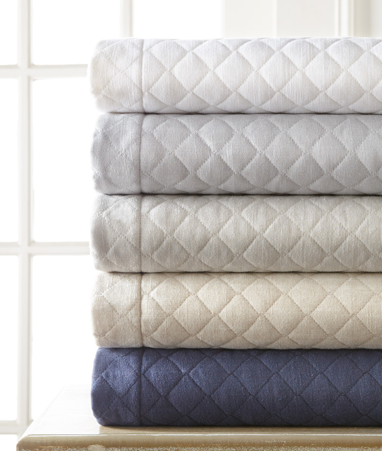 Jefferson Quilted Linen Quilt can be special ordered at SCW's Showroom