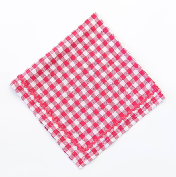 Pomegranate Inc Red Gingham Napkins.PNG