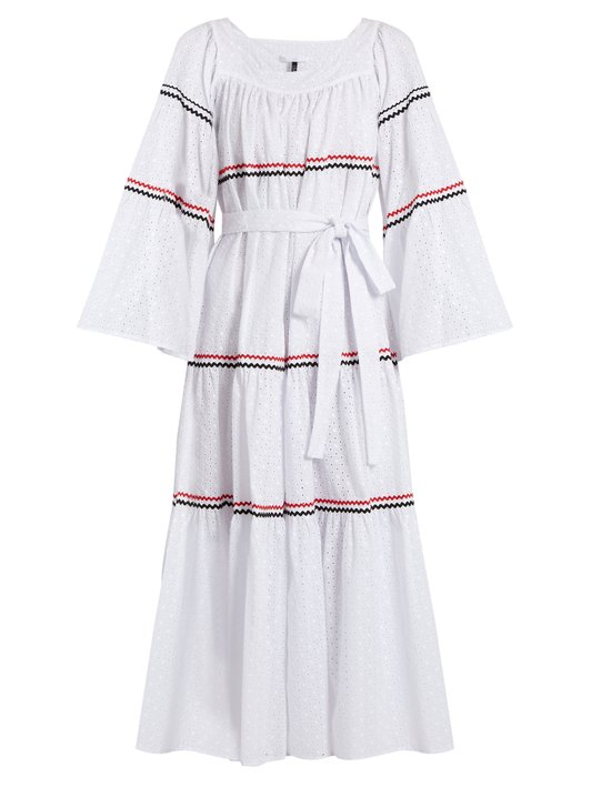 Lisa Marie Fernandez - Rickrack-Trimmed Broderie-Anglaise Cotton Dress