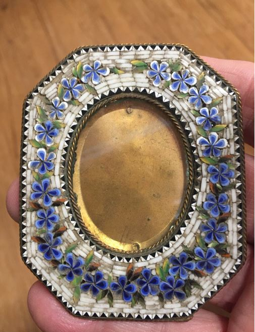 Italian Micro Mosaic Glass Picture Frame