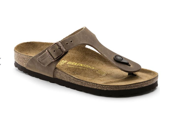 Birkenstock - Gizeh Oiled Leather Tobacco Brown
