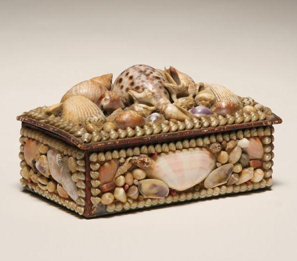 Antique shell box.