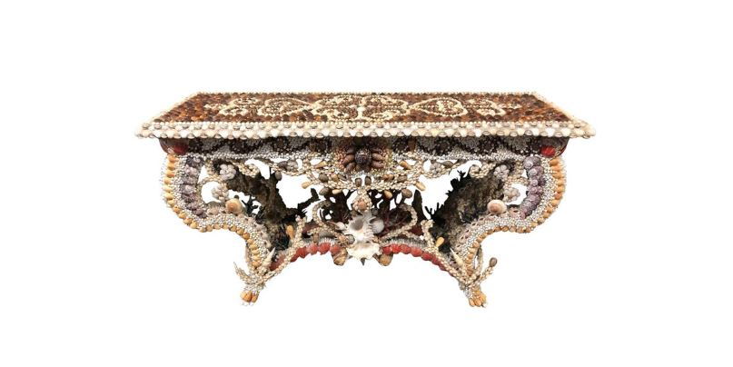 French Seashell Encrusted Console.JPG