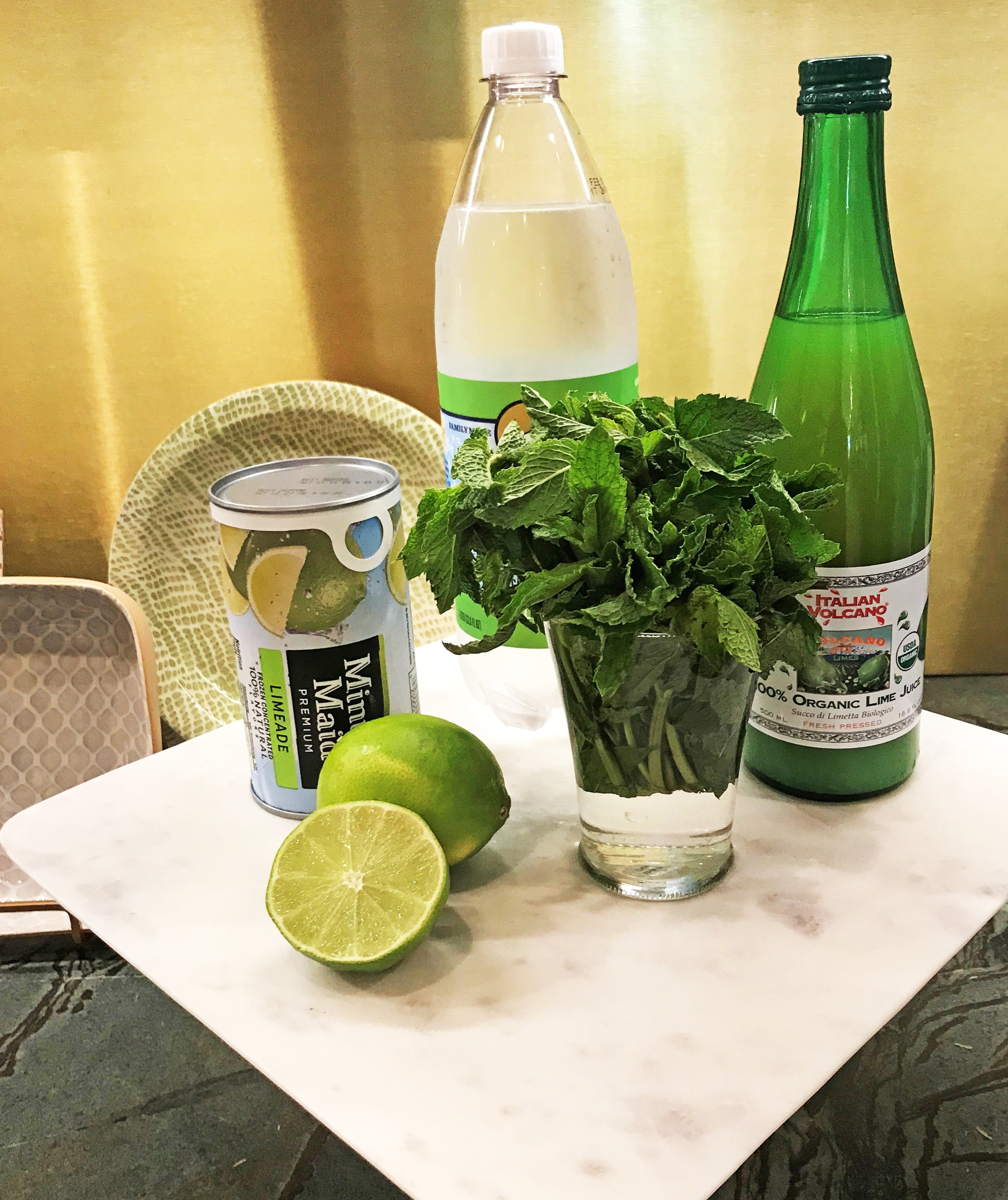 Poland Springs lime flavored sparkling water is my favorite to combine with frozen limeade mix.