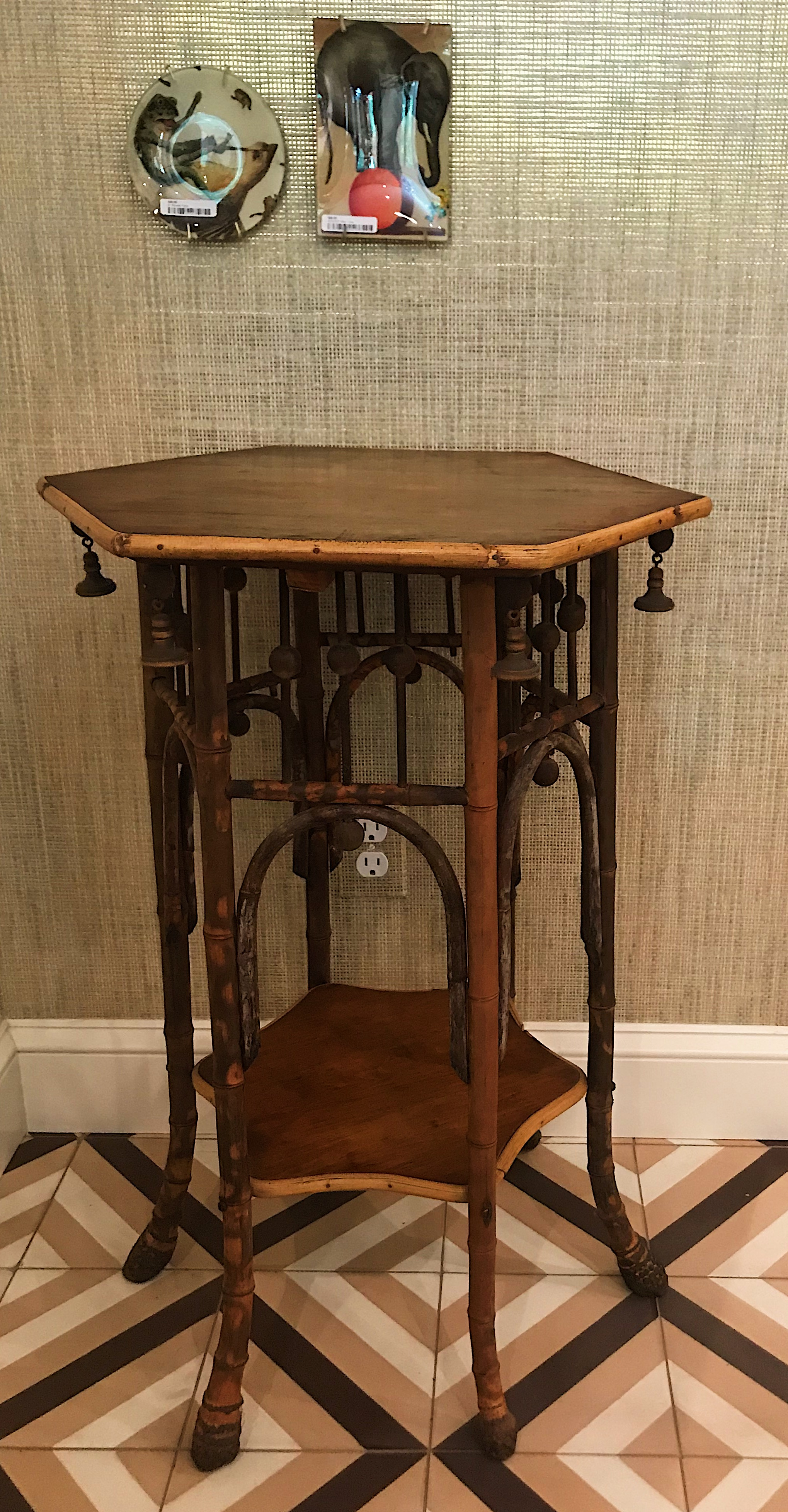 Antique bamboo side table I managed to snag last week!