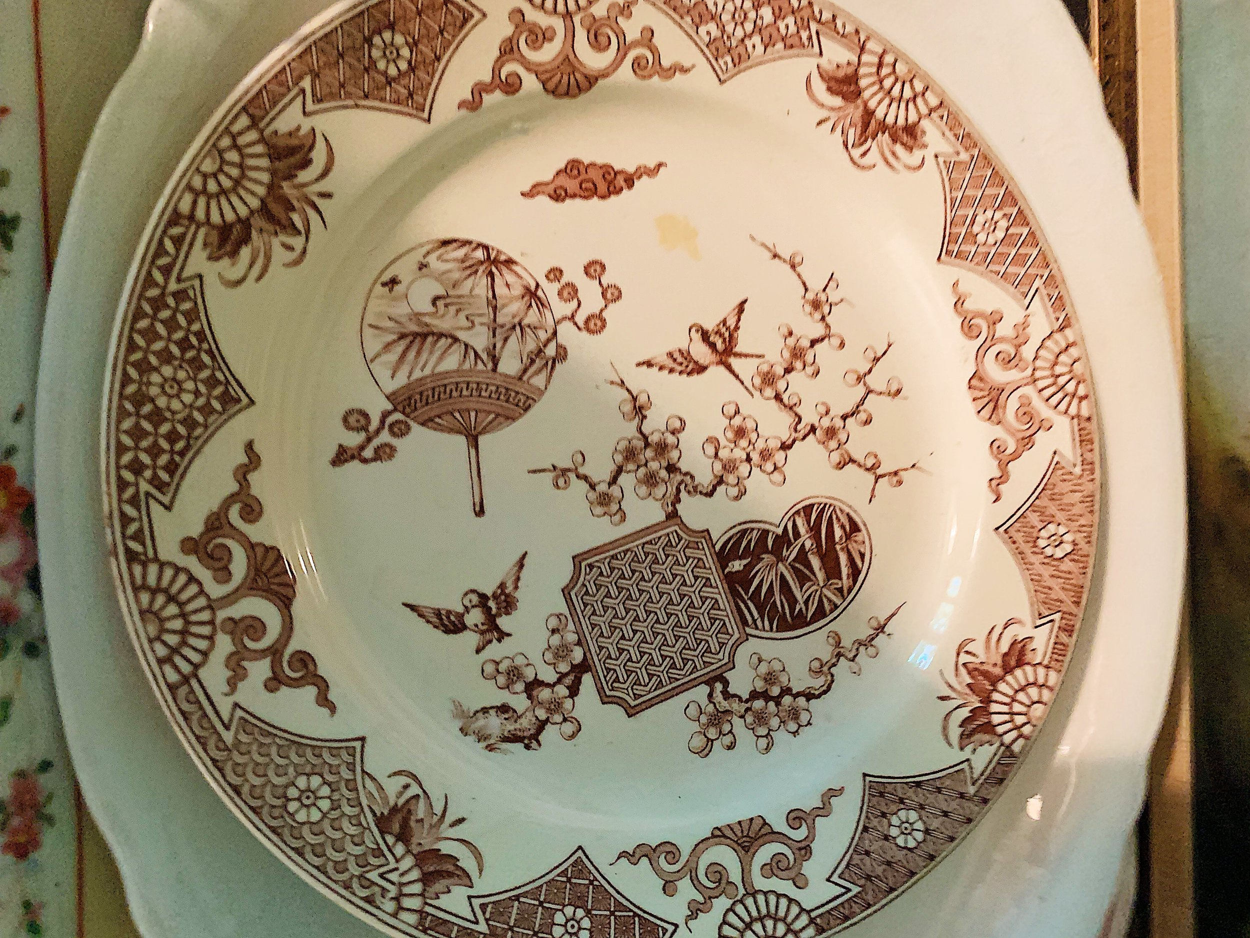 Compote example of Transferware