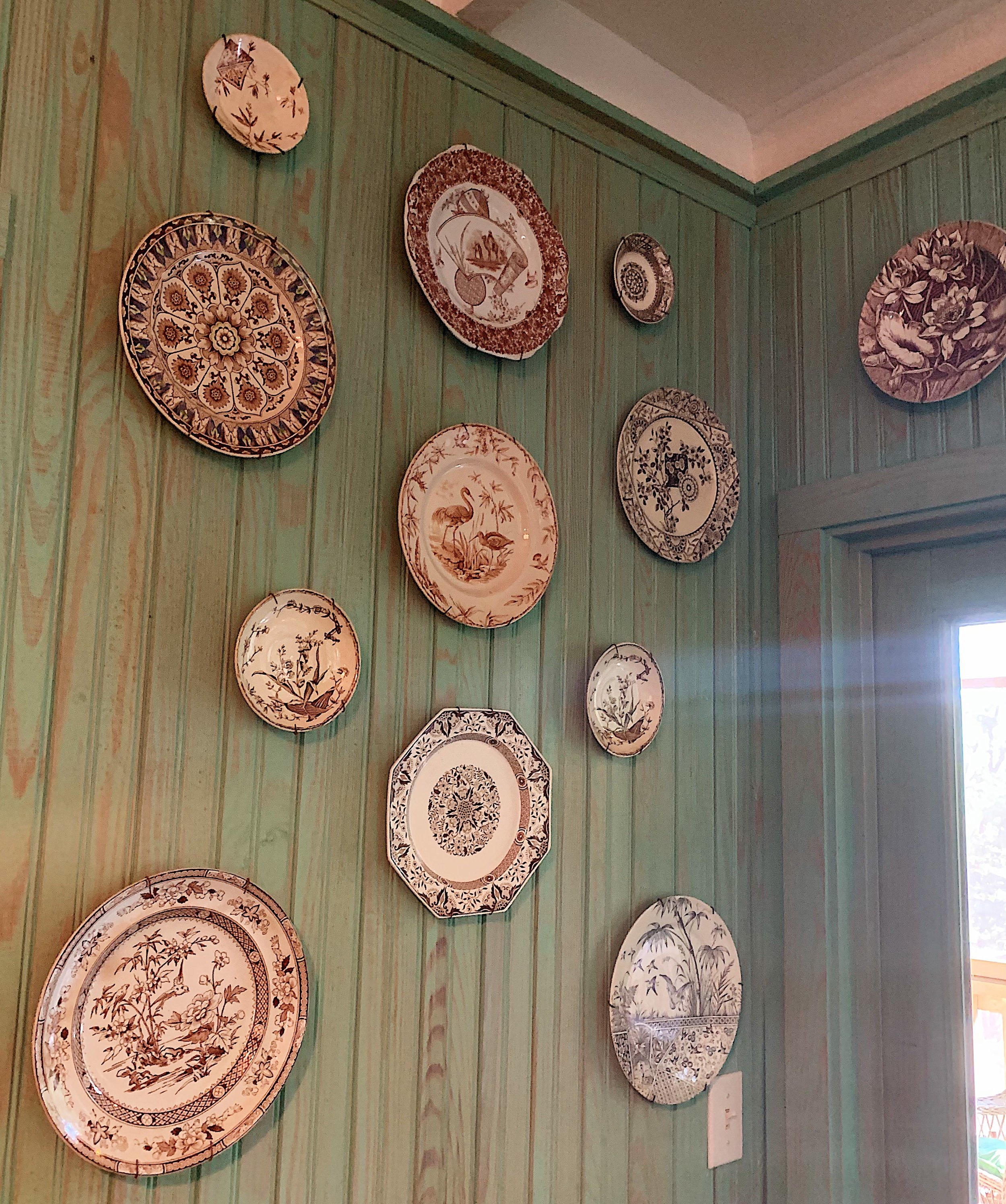 Some more examples of Transferware on Porcelain