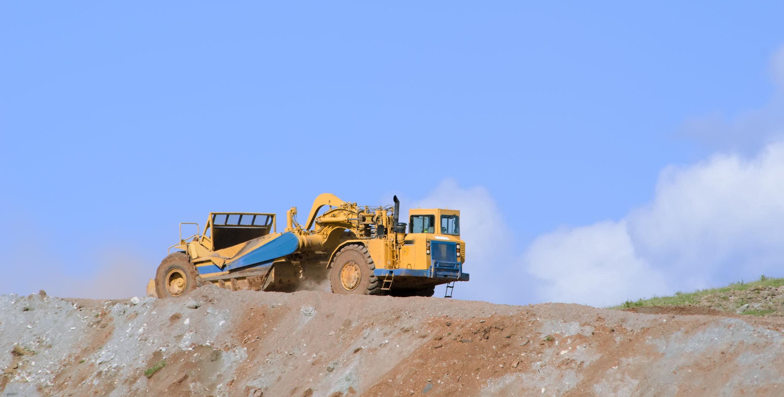 heavy equipment scraper rentals