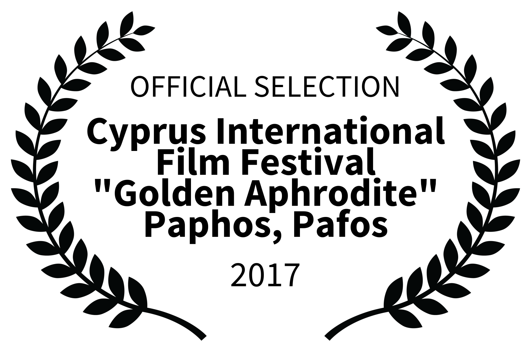 OFFICIAL SELECTION - Cyprus International Film Festival Golden Aphrodite Paphos Pafos - 2017.png