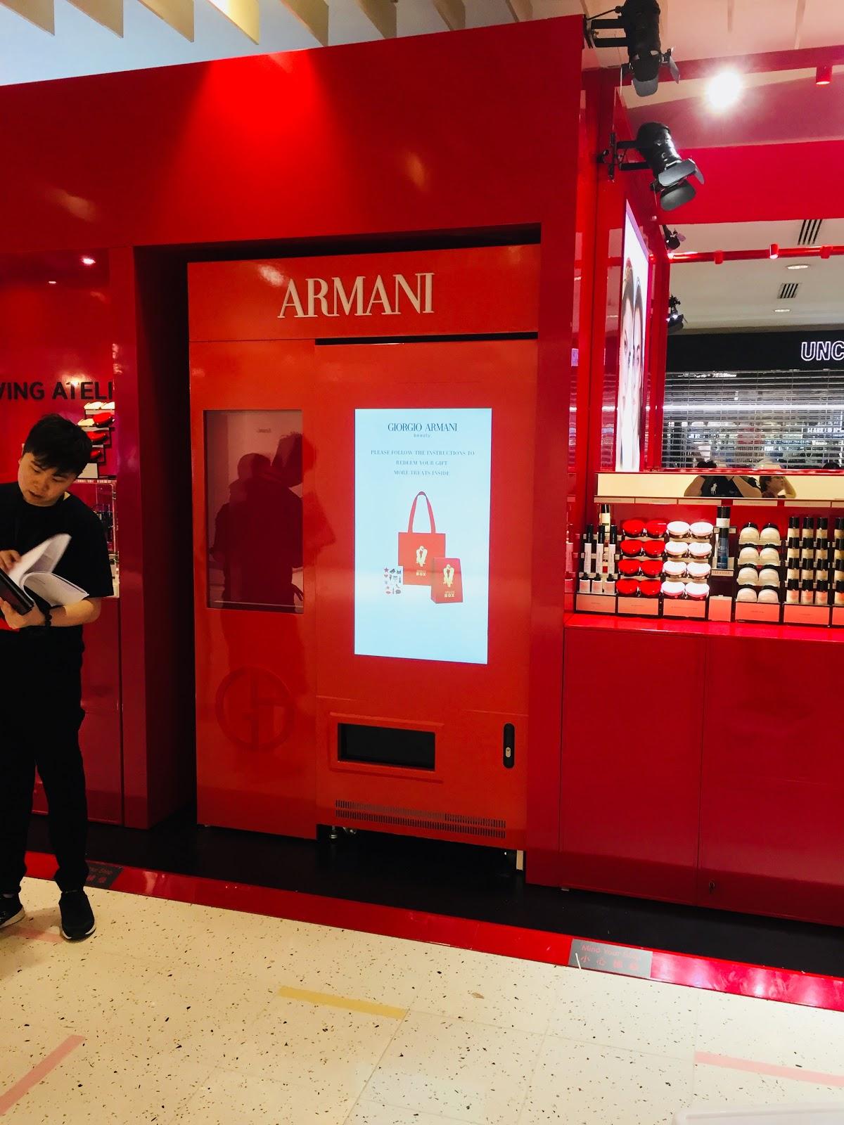 Gritus 智能售賣機@Armani Box Hong Kong,海運大廈入口大堂