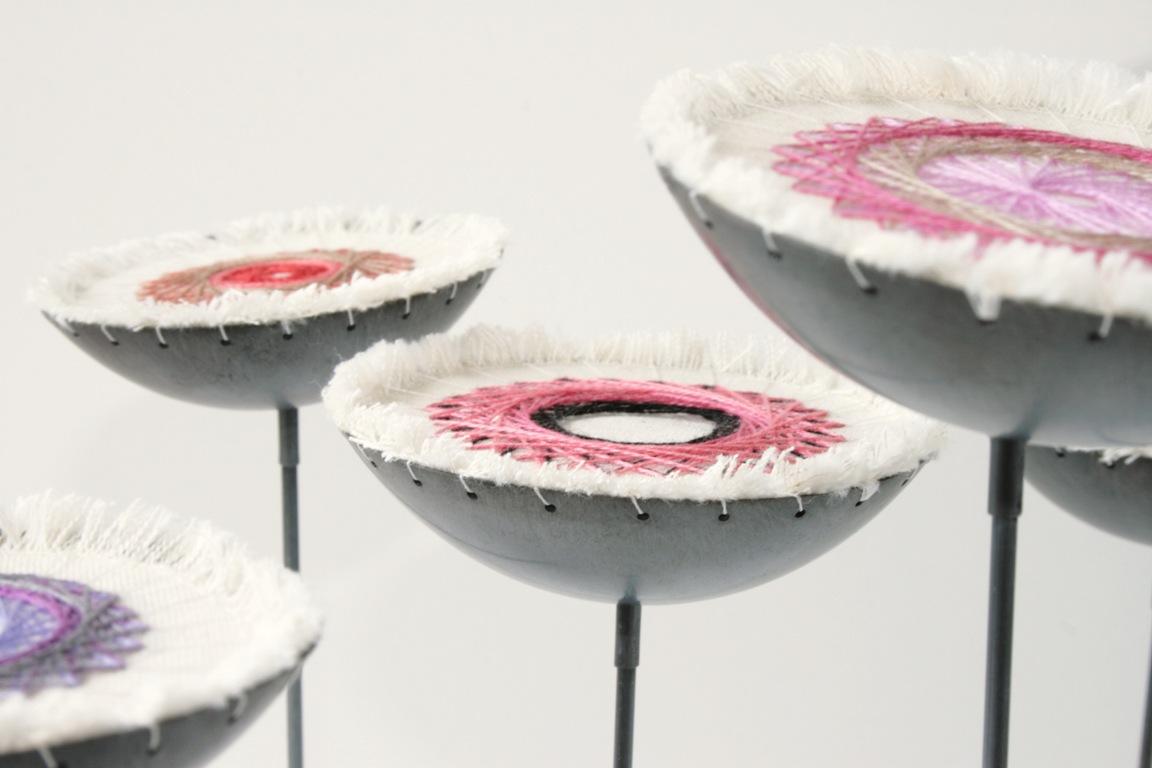 Doris Jurzak, Play. Ground., 2012, calico, stranded cotton, oxidised copper