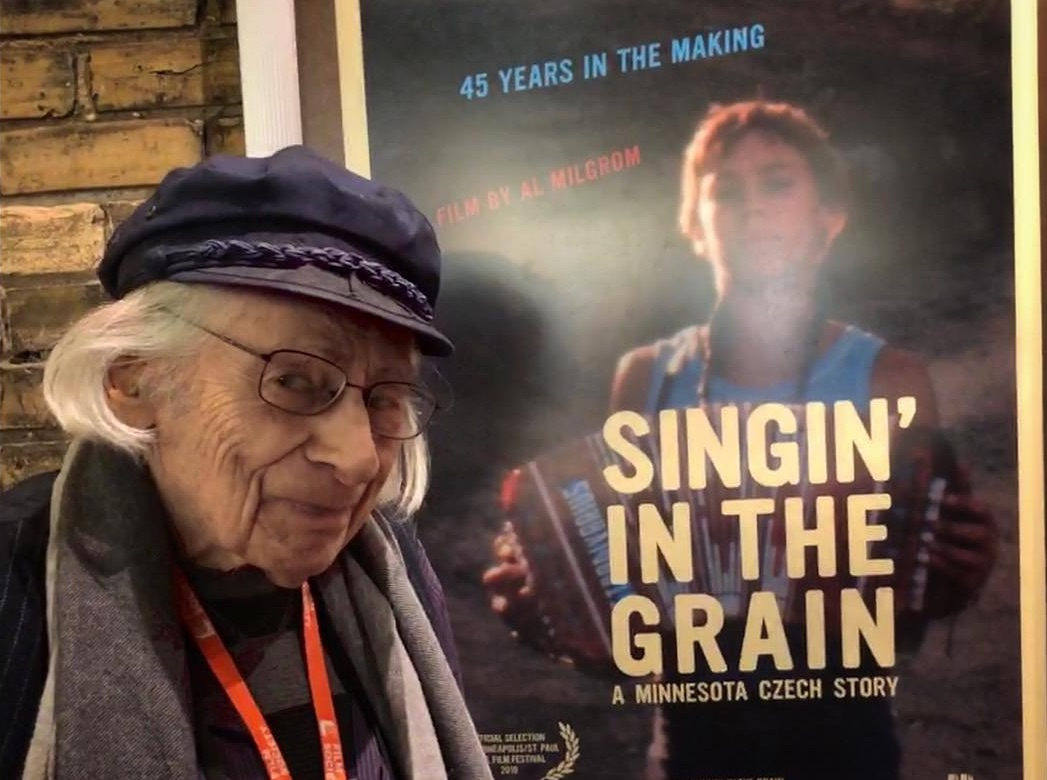 "Milgrom at the premiere of his documentary ""Singin' in the Grain: A Minnesota Czech Story"""
